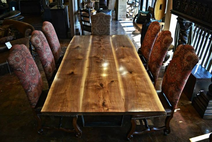 Деревянные столы с необработанными краями - Магазин Деревянных Домов