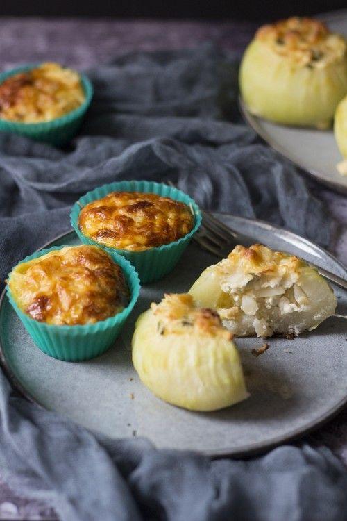 Vegetáriánus töltött karalábé és karalábés tojásmuffin recept