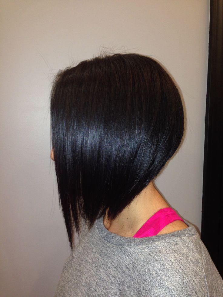 Angled Bob. Short Hair Style. | Hair Cut and Color Ideas ...
