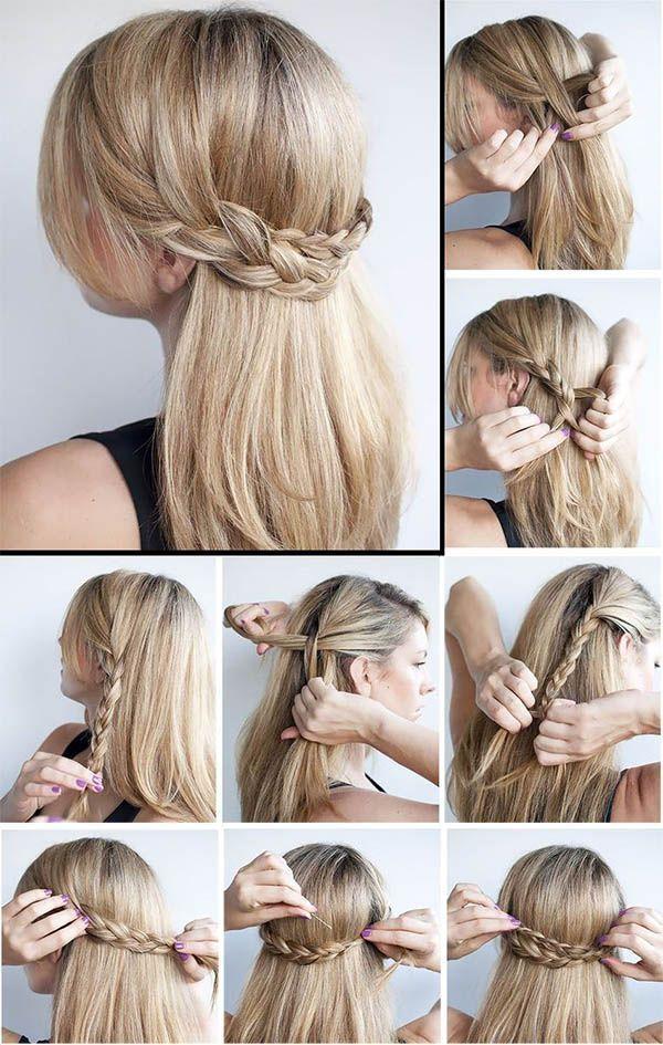 Peinados Elegantes Simples Fiestas Rapidas Tendencia Simple Elegante Frisuren Mittellange Haare Frisuren Einfach Partyfrisuren