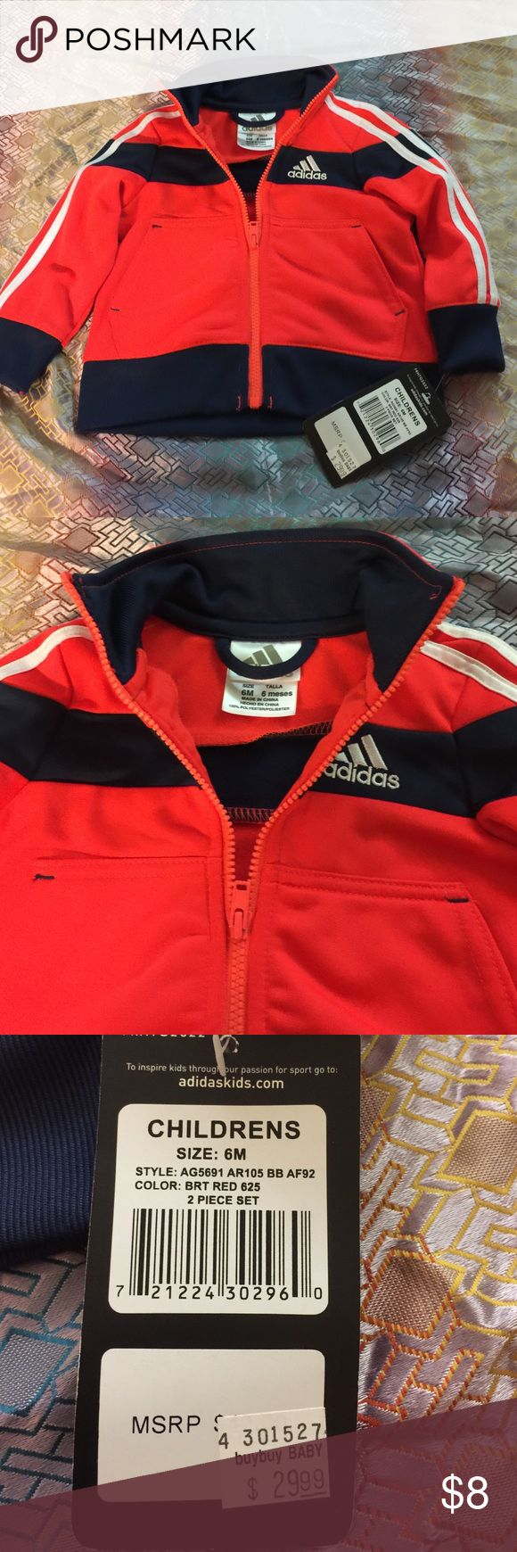 Infant sweat jacket Navy/orange sweat suit jacket for infant Adidas Jackets & Coats