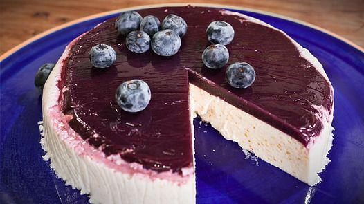 Coconut and Blueberry Mousse Cake