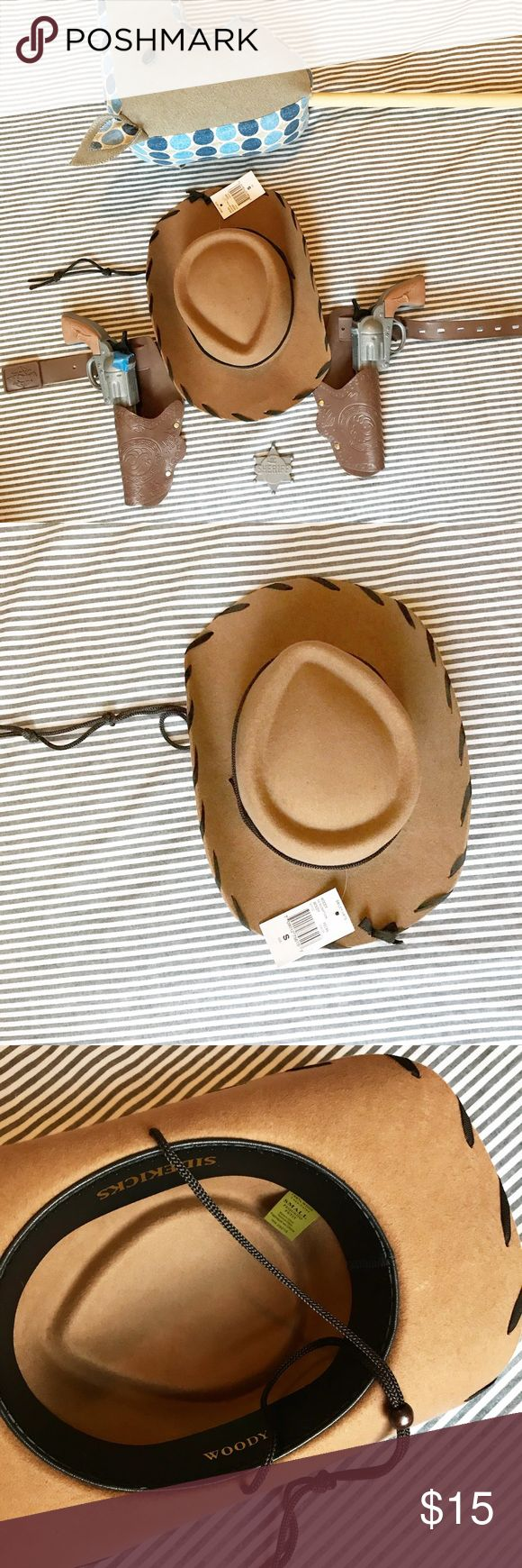 "Kids cowboy hat Kids cowboy hat, the ""woody"" style. Brand new, tags still attached. I️ bought for my son's 5th birthday to be part of his real ""cowboy"" outfit present, but it's a little small. bailey Accessories Hats"