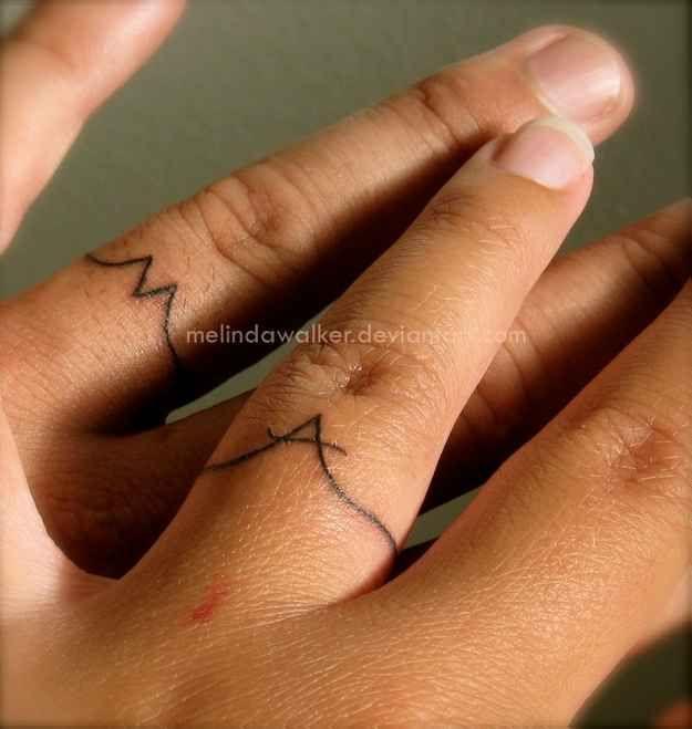 28 Awesome Wedding Band Tattoos - BuzzFeed