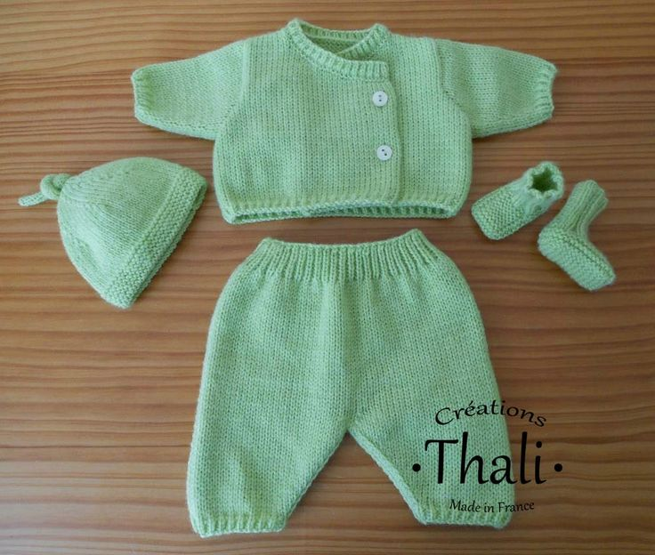 Ensemble tricot pour bébé prématuré - Le blog de Thali, Activités pour petites mains