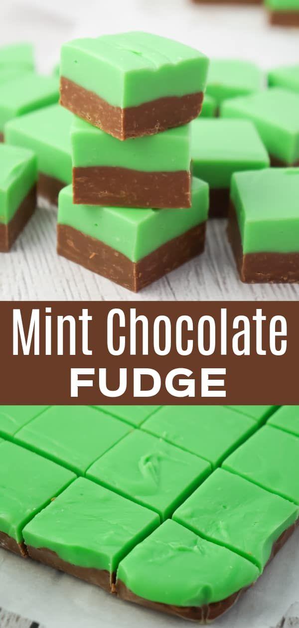 Mint Chocolate Fudge Is An Easy Microwave Fudge Recipe Using Sweetened Condensed Milk Milk Chocola In 2020 Mint Fudge Recipe Fudge Recipe Condensed Milk Fudge Recipes