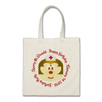 Nurse 鮑 鮑 Birthday Souvenir Tote Bag - nursing nurse nurses medical diy cyo personalize gift idea