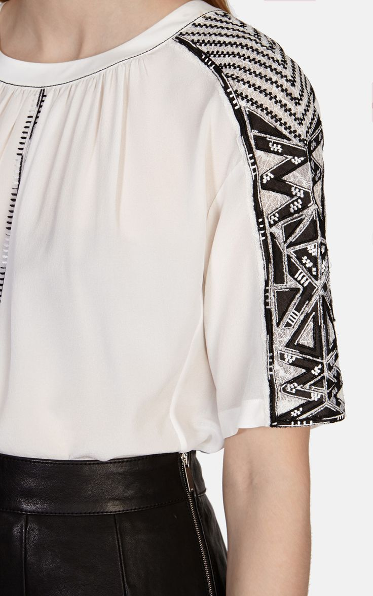 Tribal embroidery top | Luxury Women's shop_all | Karen Millen