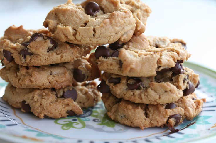 The Best Flourless Peanut Butter Chocolate Chip Cookies: Chocolate Chips, Chocolate Chipe, Flourless Peanut, Butter Chocolate, Cake Food, Flourless Cookie, Peanut Butter Cookies, Chocolate Chip Cookies, Chipe Cookies