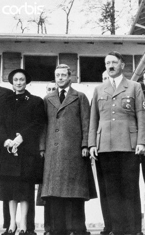 THE DUKE AND DUCHESS OF WINDSOR MEET WITH ADOLF HITLER IN 1937.