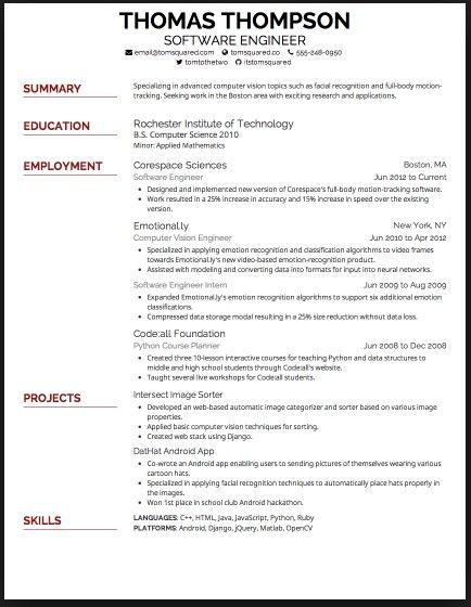 best font for resume 2015  with images