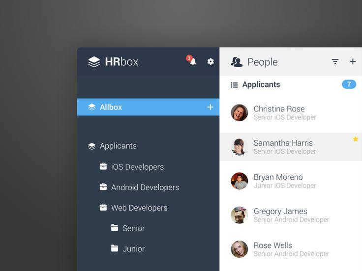 HRbox - UI Concept by Tobia Crivellari