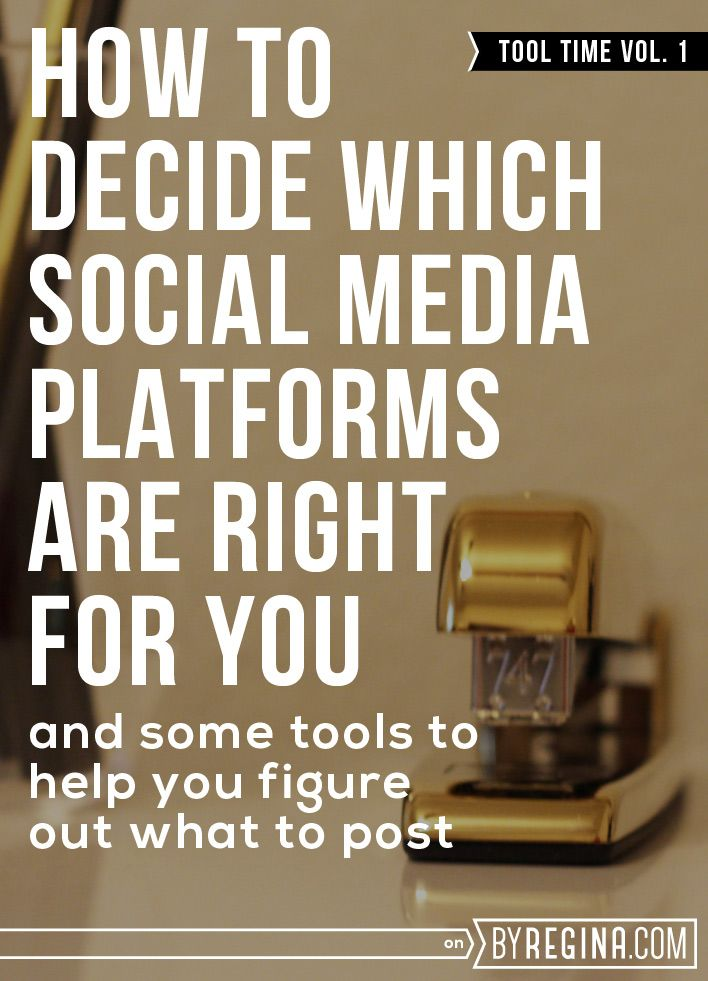 How to Decide Which Social Media Platforms are Right for you (Getting social Media Clarity)