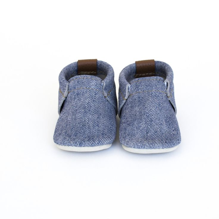 CHAMBRAY minimoc shoes (suede that looks like denim)