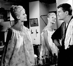"""meganmonroes: """"""""Brigitte Bardot and Henri Vidal in Come Dance With Me! (1959) """" """""""
