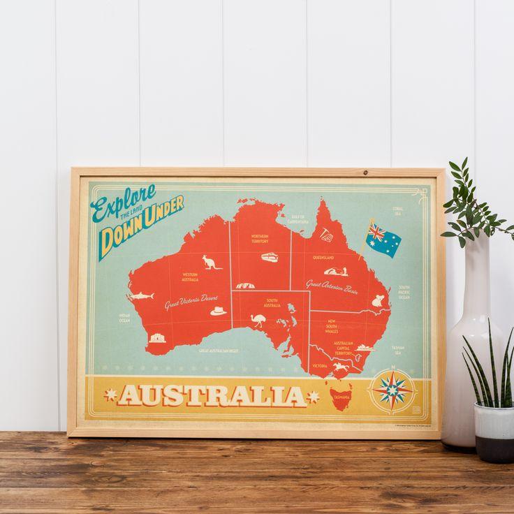 Map of Australia Print