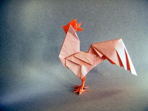 Rooster - Rui.Roda. Origami