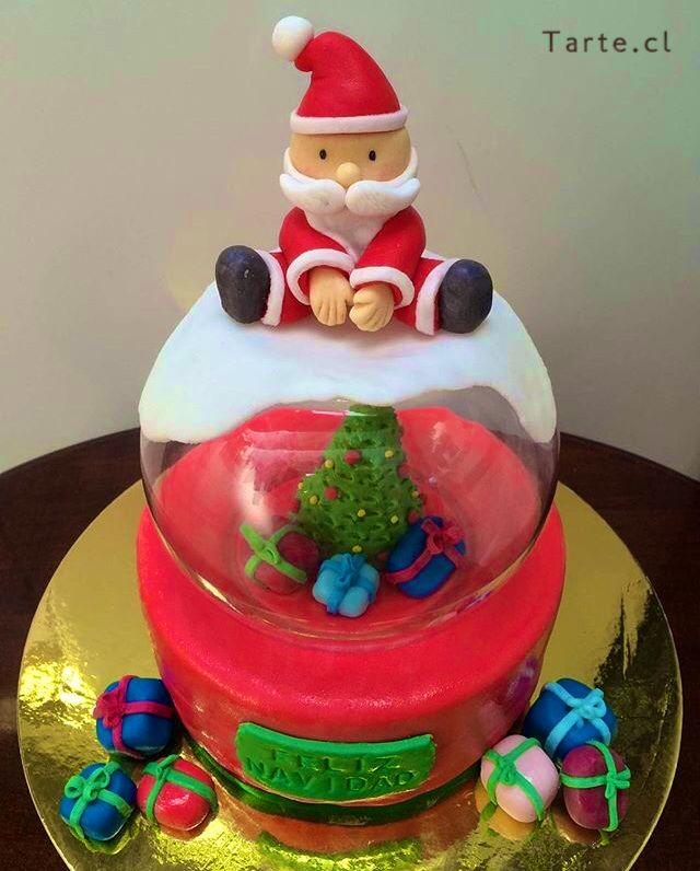 Torta de fondant navidad