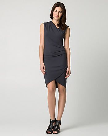 Jersey Faux Wrap Dress