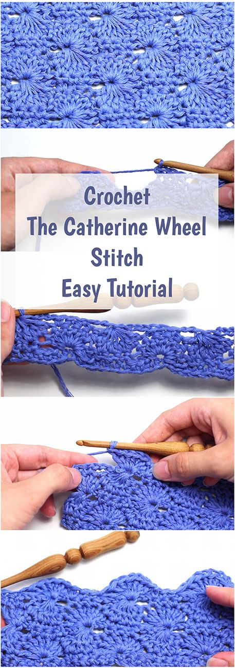 Crochet The Catherine Wheel Stitch Easy Tutorial