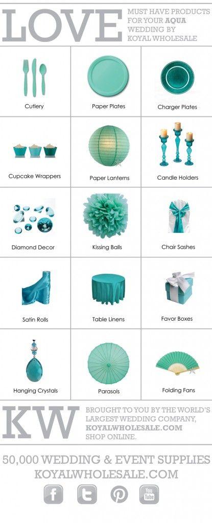 Tiffany Blue & Aqua Wedding Color Board « KoyalU