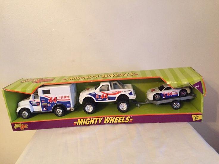 Mighty Wheels Trucks Just Kidz Box Pickup Car Trailer Child Toy #JustKidz