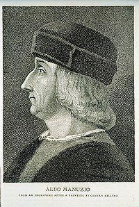 Aldus Pius Manutius o Aldo Manuzio
