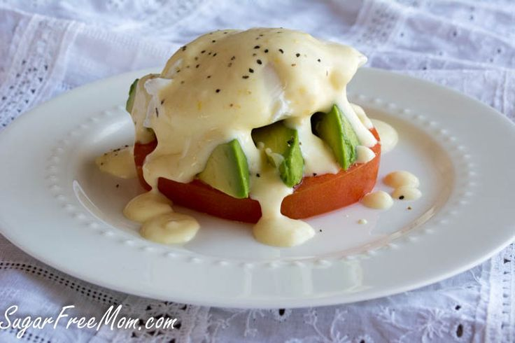 Lightened UP Eggs Benedict #lowcal #lowcarb/ sugarfreemom.com