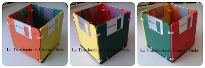 Tutorial caja hecha con disquetes. Diy diskette box
