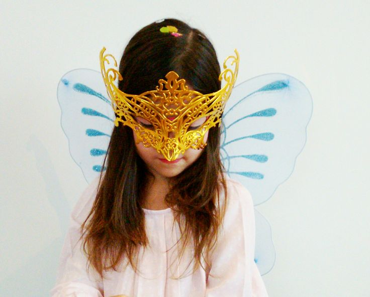 Stunning Masquerade Masks and fairy wings for girls dress ups at www.thedressupbox.net.au