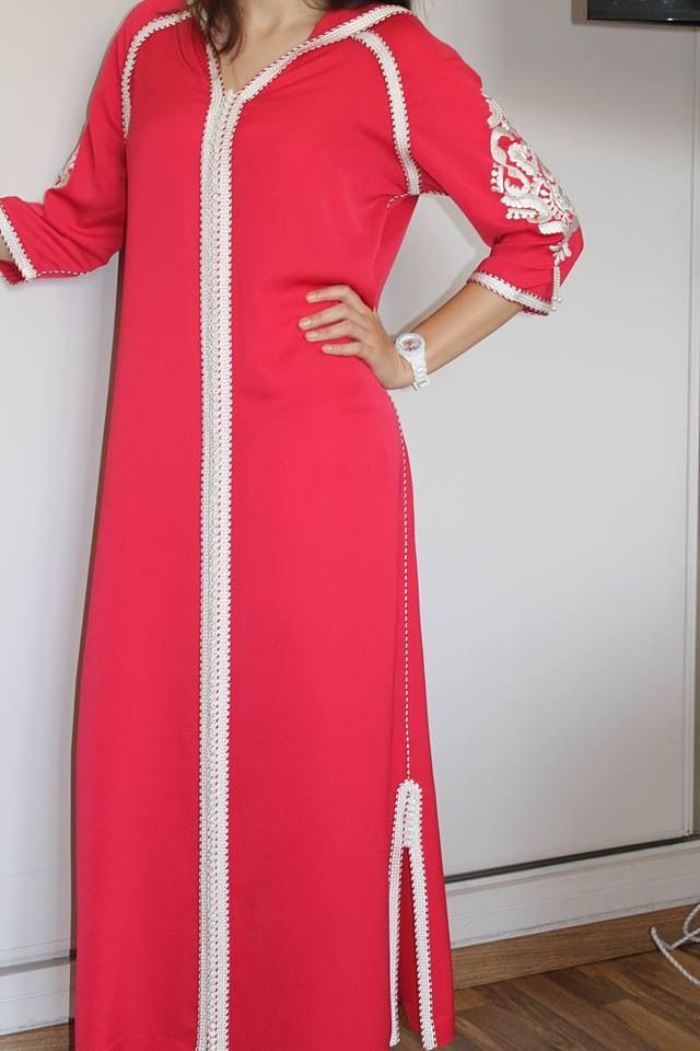 Dhellaba corail by beld'in fashion