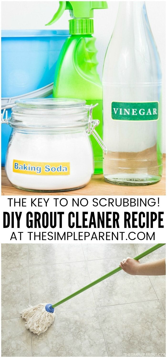 deadfe30b209c5378c110d5d30b2005f How to Clean Grout with Vinegar and Baking Soda   Cleaning grout on tile floors ...