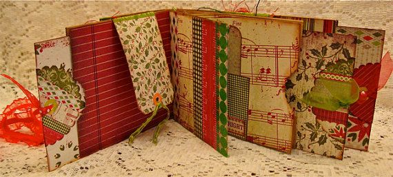 wonderful, scrumptious mixed-media brown paper bag scrapbooks!!! by littlejoysstudio on etsy