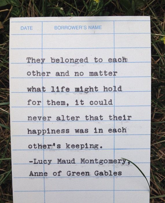 Lucy Maud Montgomery quote from Anne of Green by PaperElation