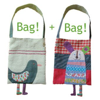Cute bag ideas - there are a few more pics on the linked page :)  Inspiration only-  I think the bags were for sale years ago :D