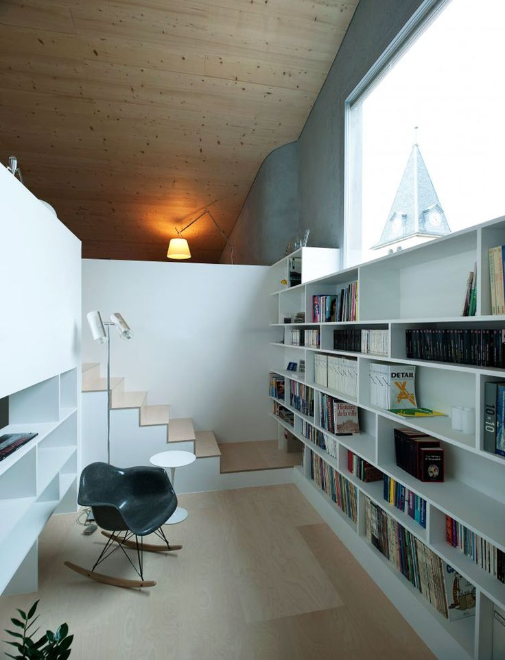 bunq architectes: transformation and creation of two apartments: Interior Design, Home Libraries, Staircase, Reading Nooks, House, Space, Study Room, Reading Room