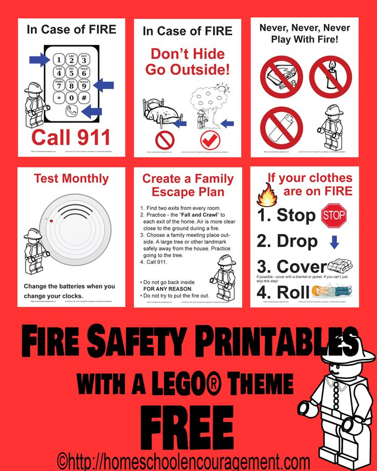 10 Awesome LEGO-themed Fire Safety Posters and Worksheet Printables! #firesafety
