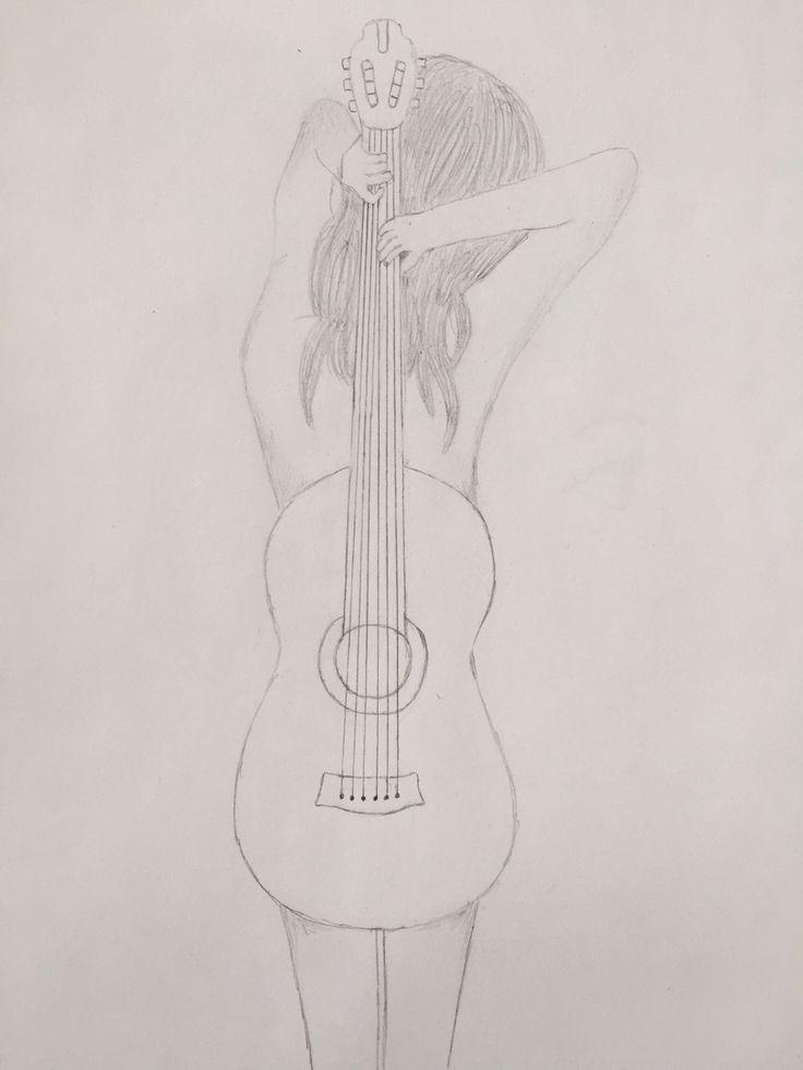 #dibujo #guitarra #mujer