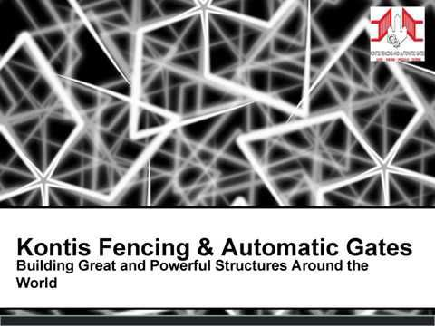 Kontis fencing manufactures & installs quality fencing, gates and automation for customers in residential, commercial and industrial sectors. To get more information about our products and expert services please feel free to contact us today at 0423 687 498 or visit our website http://www.melbournegatesandfencing.com.au