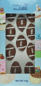 Rugby Balls Edible Cake Decorations at http://www.buildabirthday.co.nz/products/han100177