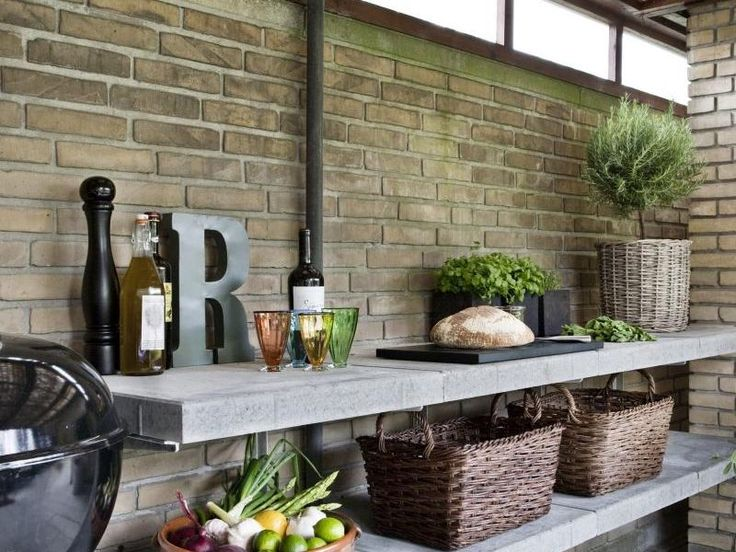 Best 25 outdoor shelves ideas on pinterest diy outdoor for Simple outdoor kitchen designs