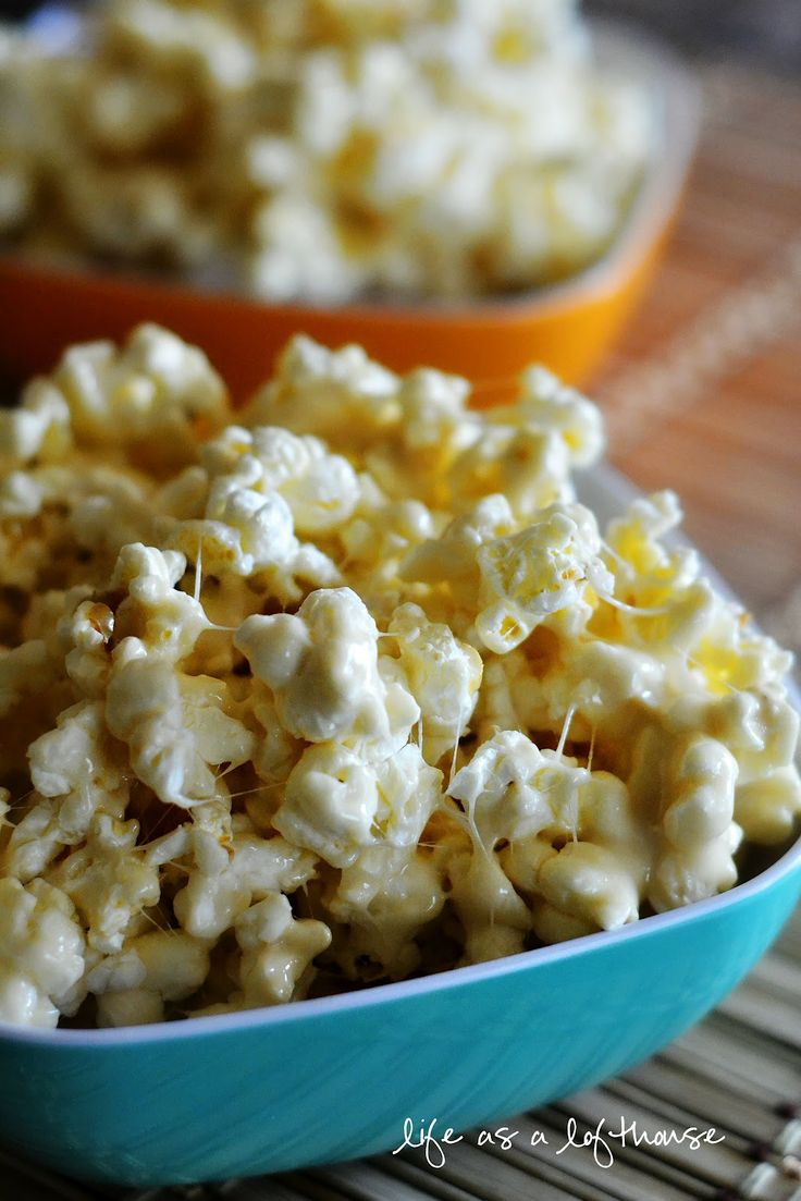 Marshmallow Popcorn, this is what the girls and I have for movie night (minus the brown sugar) - 101 Dalmations - Pongo & Perdy here we come!  That song is forever stuck in my head.
