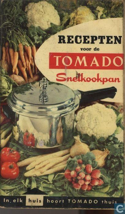 Recepten voor de snelkookpan Tomado. 1974.................TRADITIE !!!!