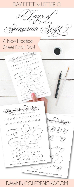 Spencerian Script Style: Letter O Worksheets