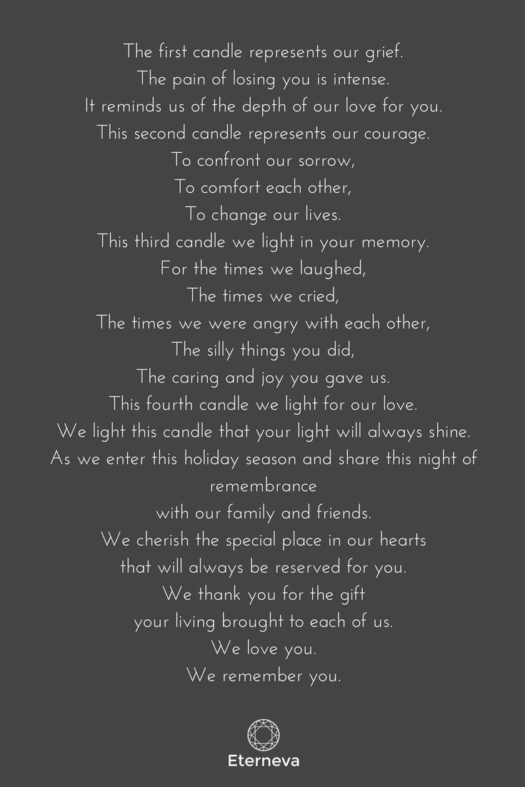 There is grief, courage, and memory in death // funeral speech
