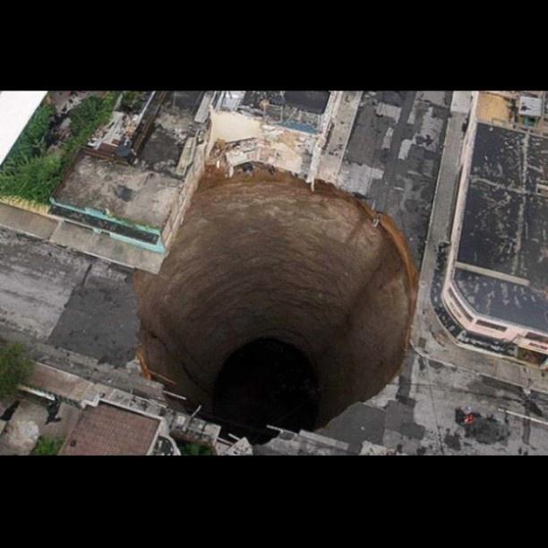 Sinkhole in Guatemala City