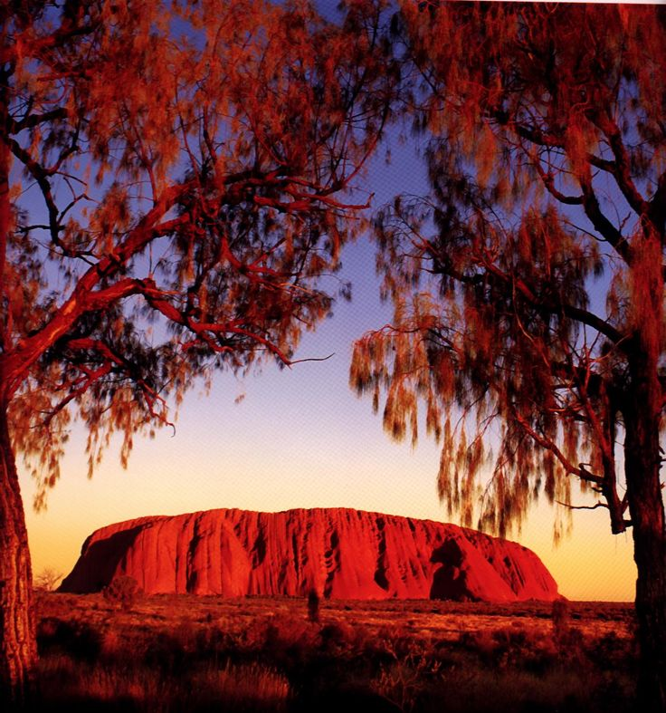 Uluru (Ayres Rock) is one of the most beautiful places I've been.  I love how the colours change at sun rise and sun set.