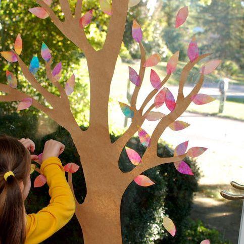 podzimni dekorace do okna