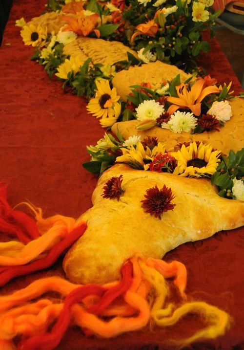 The most beautiful dragon bread EVER Michaelmas celebration. Enchanted mama.