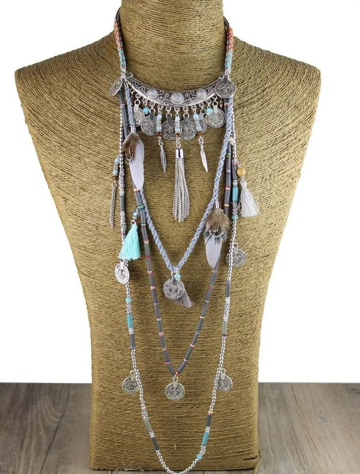Vintage Gypsy Statement Long Bohemia Necklace Ethnic jewelry tribal collar #Jaasa #Choker